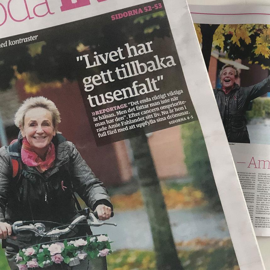 Amie Fahlander i ett stort reportage